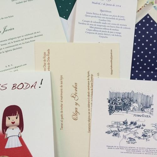Imprenta en Madrid . Invitaciones de boda| Meneses Gráfica Digital