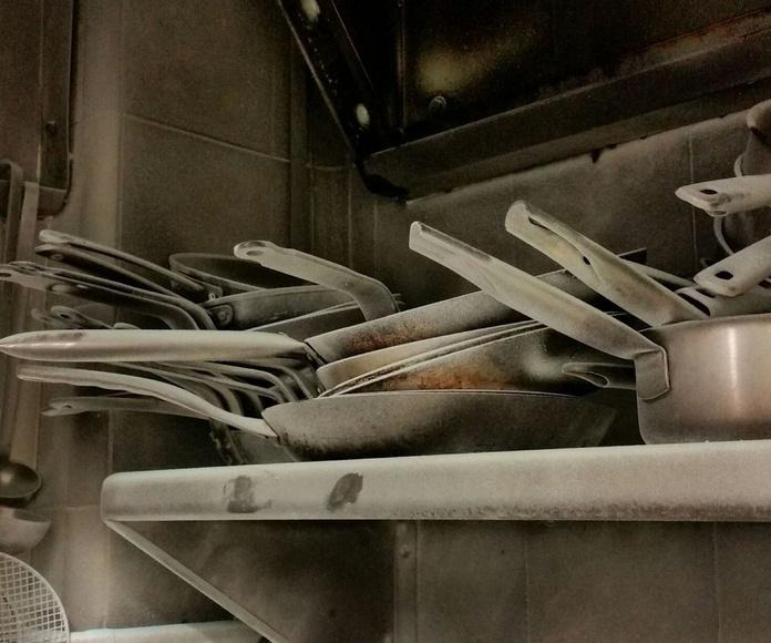 Limpieza de siniestro en cocina