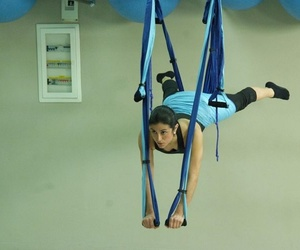 Clase de pilates aéreo en Alcobendas