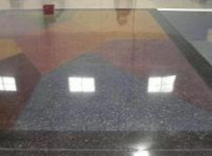 Pulido suelo de granito