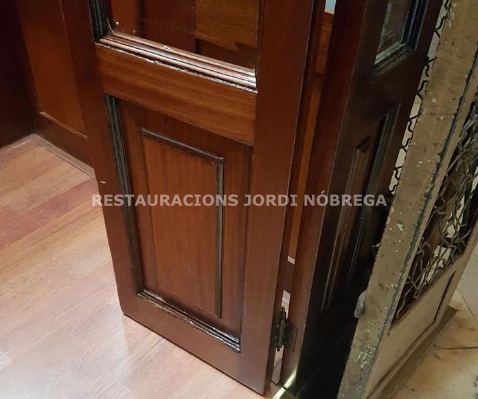 Restauracions Jordi Nóbrega, restauración cabinas de ascensor en Barcelona