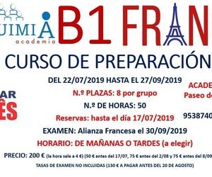 B1 DE FRANCES. (Examen Alianza Francesa 30/09/2019)