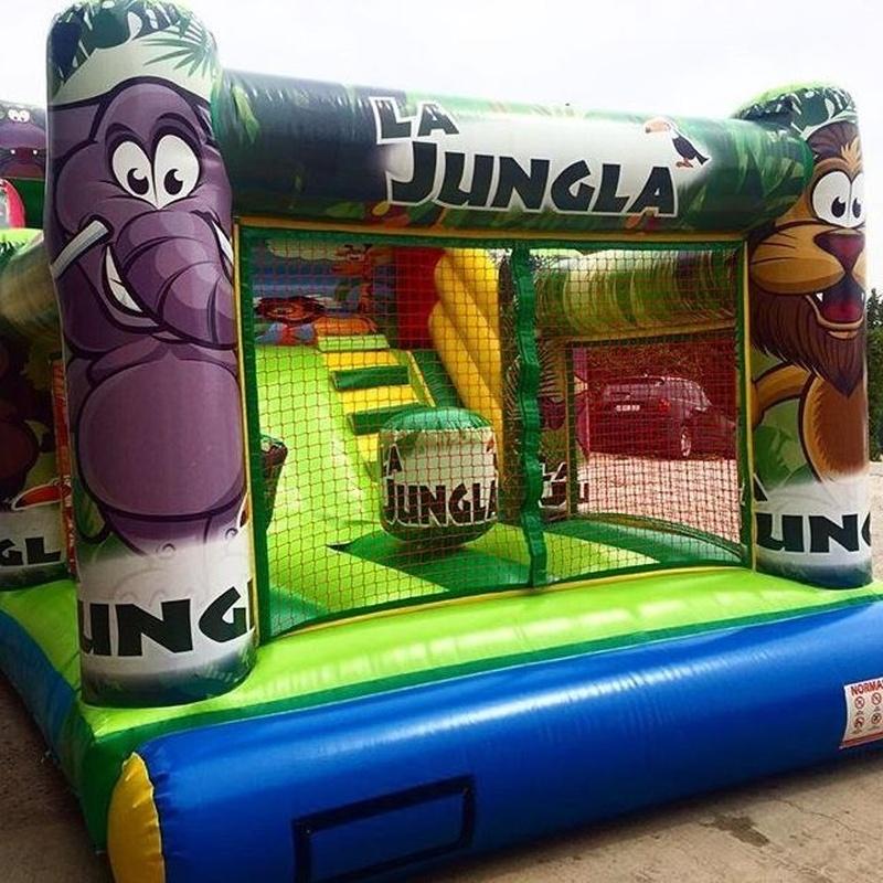 Castillo hinchable Tobogan selva redes: Catálogo de Hinchables Happy Jump