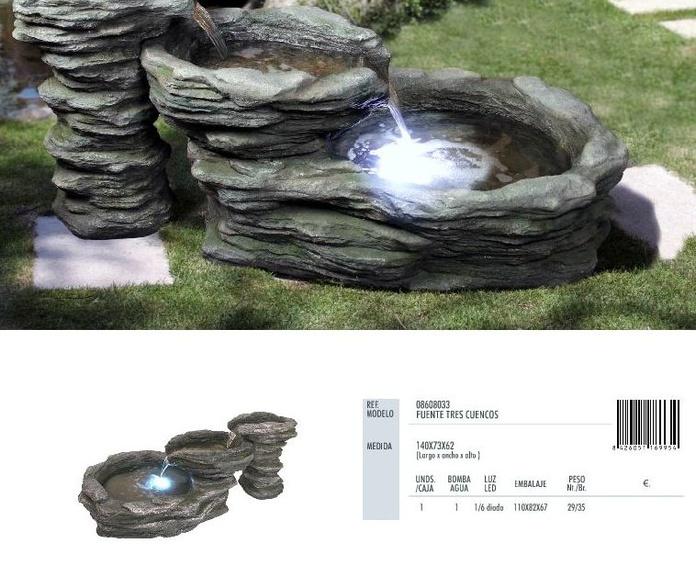 Fuentes troncos y rocallas