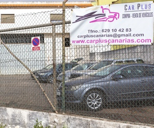 Cartel publicitario CAR PLUS CANARIAS