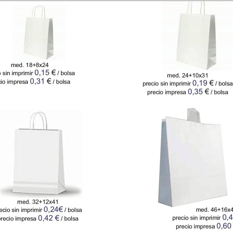 Bolsas blancas modelo tierra - asa retorcida