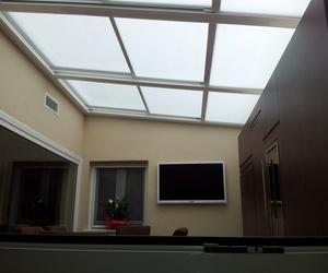 Cerramientos de terrazas con techos acristalados
