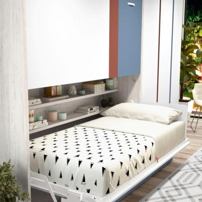 Las camas abatibles, ideales en dormitorios juveniles