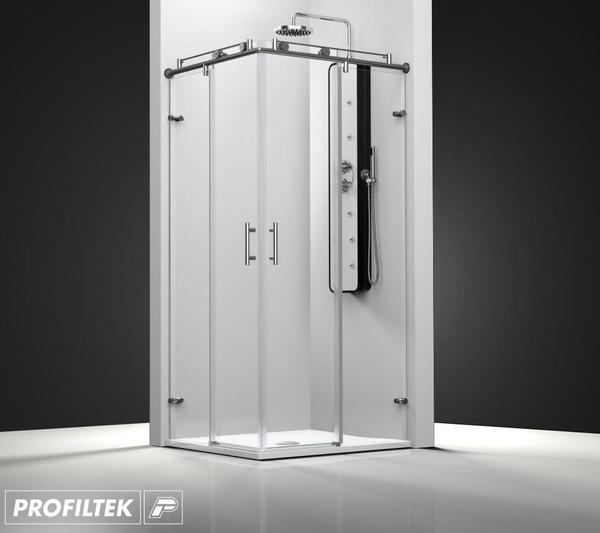 Mampara de baño Profiltek corredera serie Steel modelo ST-220 Light