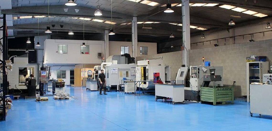 Instalaciones de nuestra empresa de mecanizado aeronáutico en Madrid centro