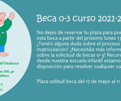 BECAS 0-3 CURSO 2021-2022