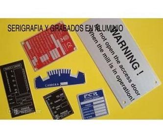Grabados Químicos: Catálogo de Grabados Dalima, S.L.