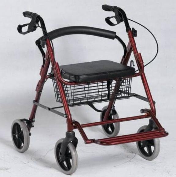 Andador de cuatro ruedas con reposapies: TIENDA ONLINE de Ortopedia La Fama