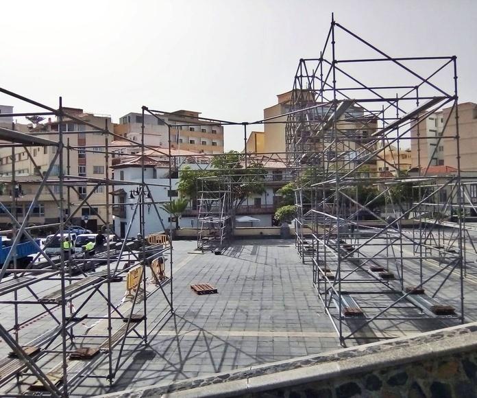 Montaje para los Carnavales del Puerto de la Cruz 2019