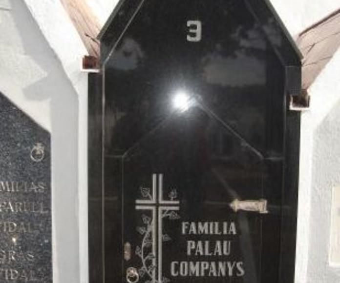 Arte funerario : Productos  de Marbres Ibars