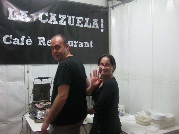 Nuestro equipo en Fira Tapa!!!! Luis y Pili