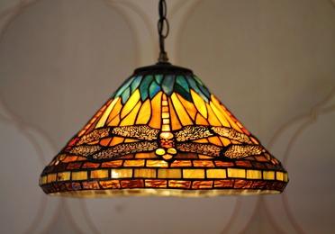 Lámpara Tiffany de suspensión
