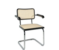 silla cesca con brazos en marco lacado negro a 125€+iva