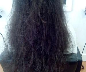 Antes del tratamiento de hidratación para el cabello