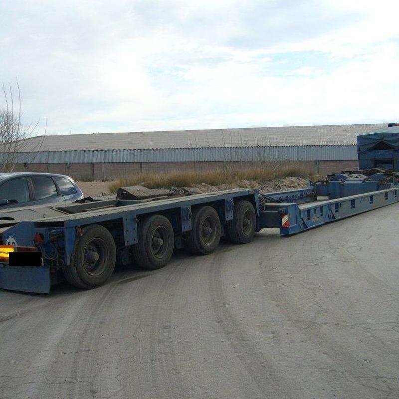 Transportes especiales en Zaragoza