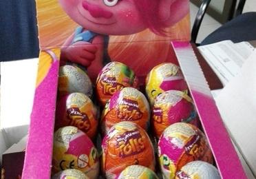 Chocolatinas y huevos de chocolate