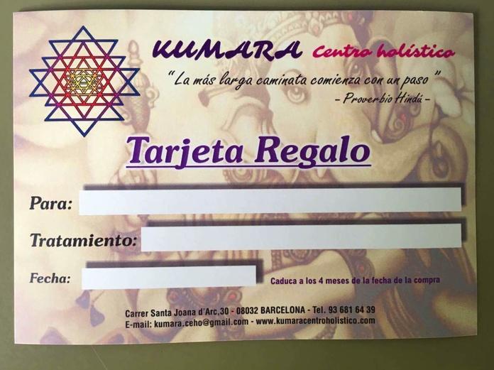 Tarjeta regalo ritual holístico: Terapias y actividades de Kumara Centro Holístico