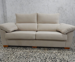 Sofá 3 plazas muy cómodo, respaldos reclinables, amplia gama de telas a elegir