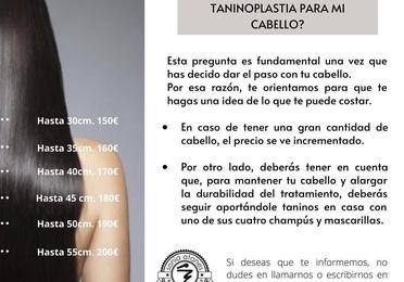 Tratamiento de alisado con Taninoplastia