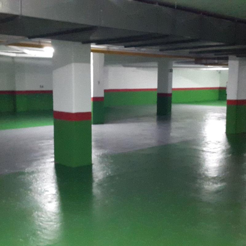 Resina epoxi parking