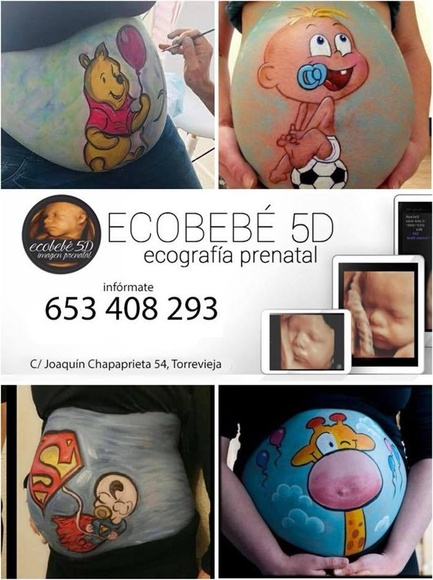 ECOGRAFÍA 5D Y BELLY PAINTING