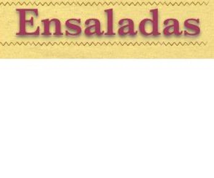 Ensaladas: Carta de Restaurante Byp