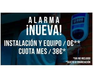 Alarma Nueva con instalación y equipo gratis. Cuota 38€ mes