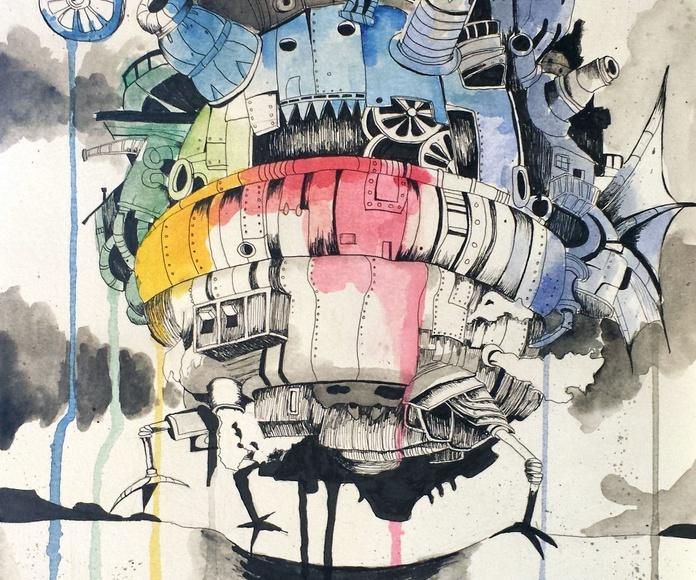 Obras de alumn@s. CARBONCILLO, GRAFITO, TINTA.