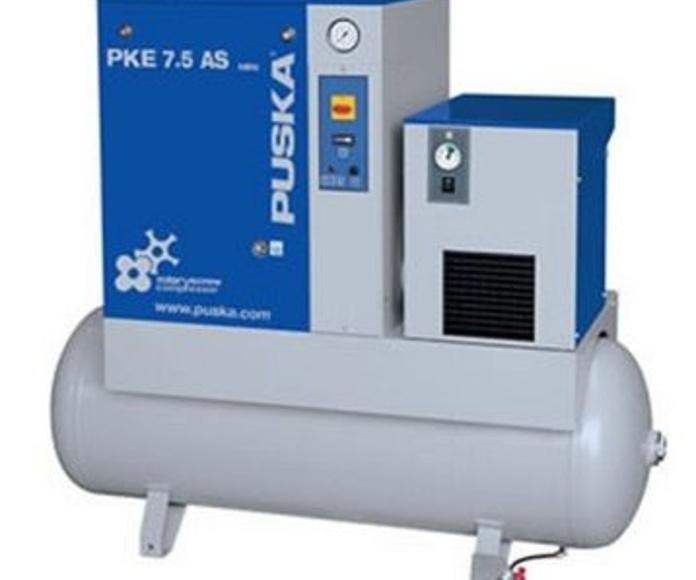 Compresores rotativos de tornillo serie PKE con secador