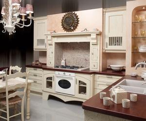 Muebles de cocina en madera estilo clásico modelo Cuba