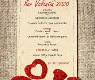 Menú San Valentín