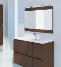 Mueble Complet C13 de 2 cajones + 2 cajones, madera wengué y uñero inglete