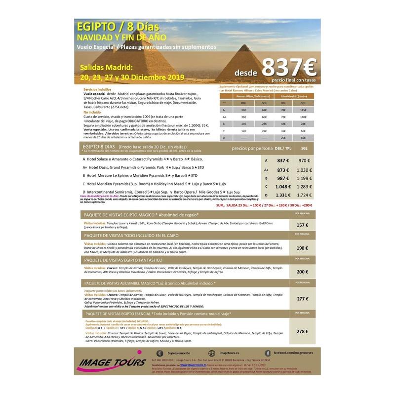 Egipto: Ofertas de Viajes Global Sur