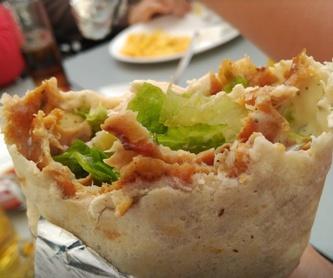 Bocadillos: Carta de Casa del Kebab