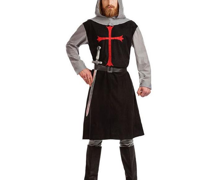 Disfraz cruzado medieval negro