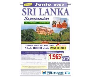 Super oferta Sri Lanka. Junio 2020