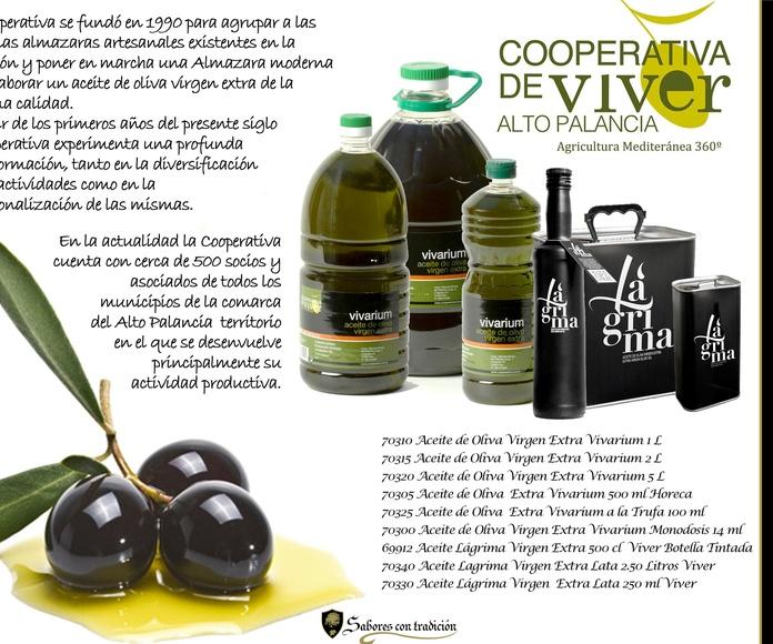 """Aceite  de Oliva Virgen Extra """" Coop Viver """": Productos de Sabores con tradición"""