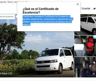 Certificate of excellence in Tossa de Mar