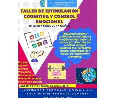"""""""Taller de Estimulación cognitiva y Control emocional para niñ@s de 7 a 12 años"""""""