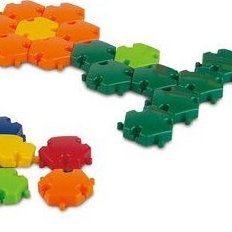 Mosaicos con fichas hexagonales
