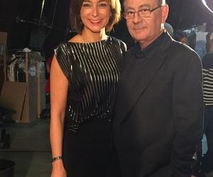 Roberto Verino y Marta G en el desfile de Museo Balenciaga (Oct 2016)