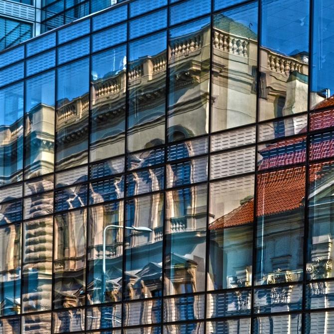 Tipos de acristalamiento de las cortinas de cristal