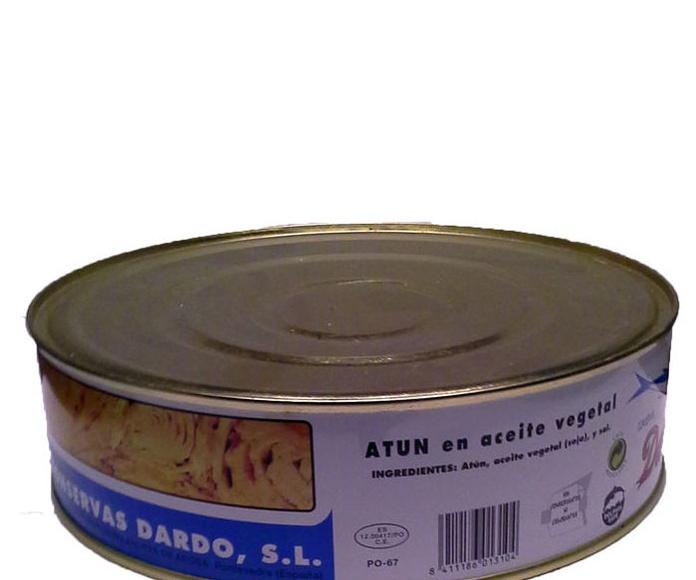Atún en Aceite Vegetal RO 1800 Marca CONSERVAS DARDO