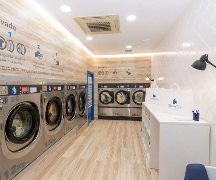 Nueva lavandería Autoservicio Instalada por seco y espuma en Puertollano