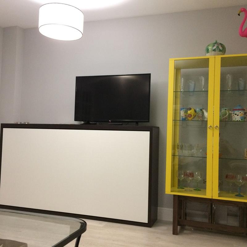 Salón reformado en vivienda de Alboraya Valencia.